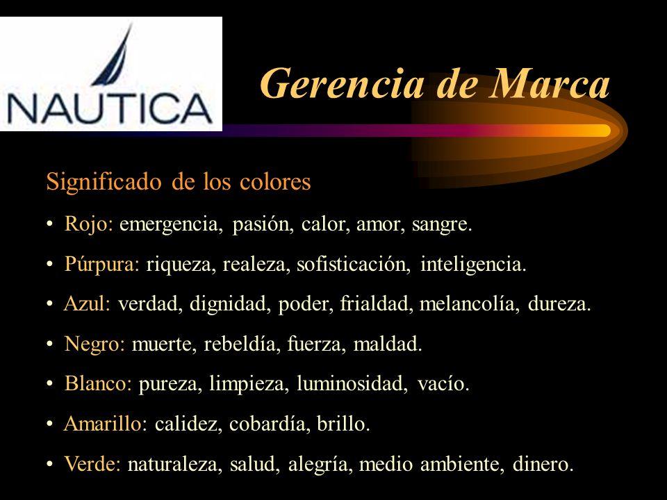 Gerencia de Marca Significado de los colores