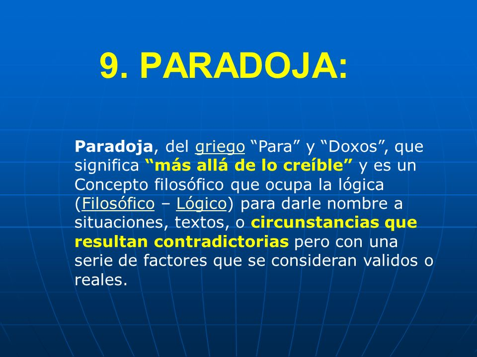 9. PARADOJA: