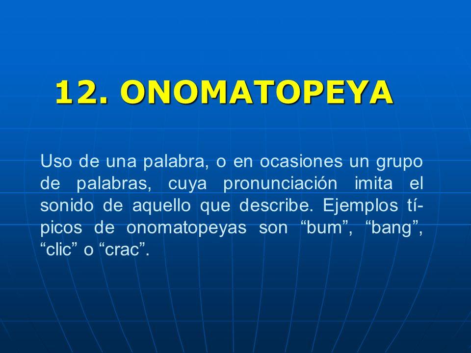 12. ONOMATOPEYA