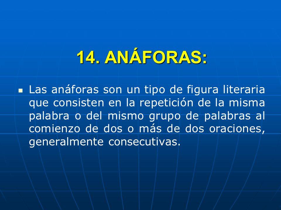 14. ANÁFORAS:
