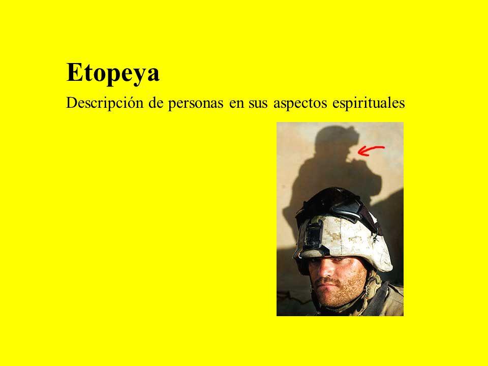 Etopeya Descripción de personas en sus aspectos espirituales