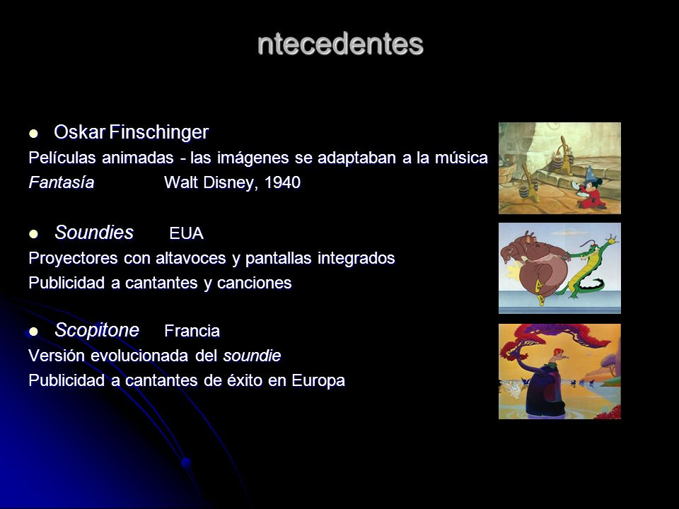 ntecedentes Oskar Finschinger Soundies EUA Scopitone Francia