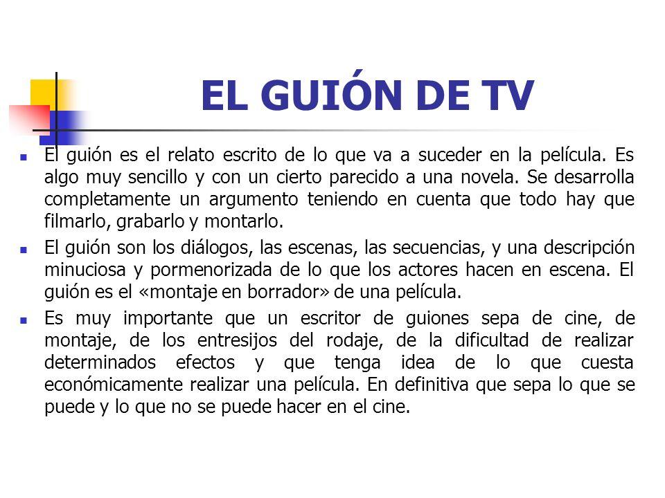 EL GUIÓN DE TV
