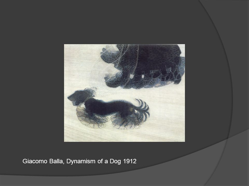 Giacomo Balla, Dynamism of a Dog 1912