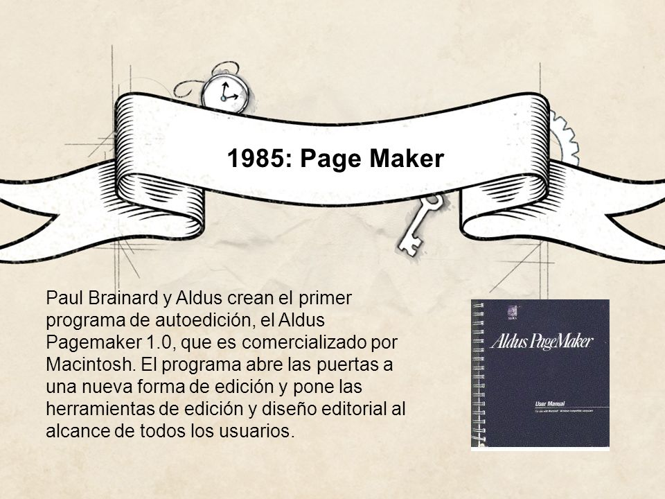 1985: Page Maker
