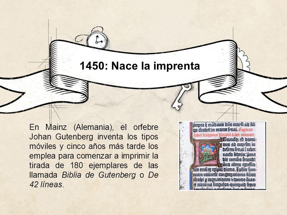 1450: Nace la imprenta