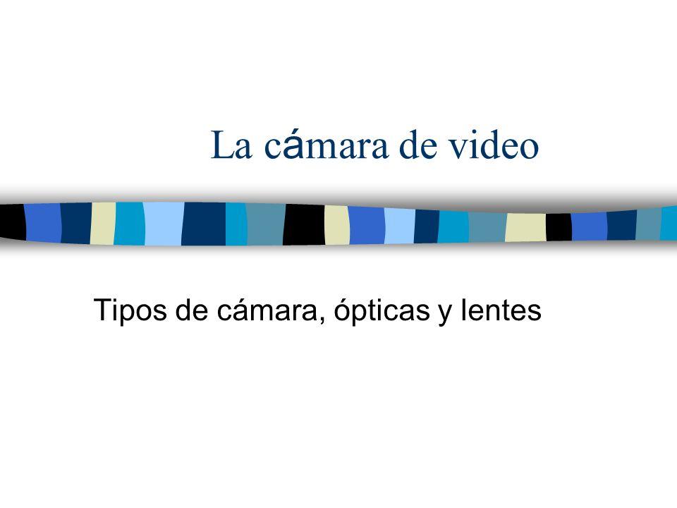 Tipos de cámara, ópticas y lentes