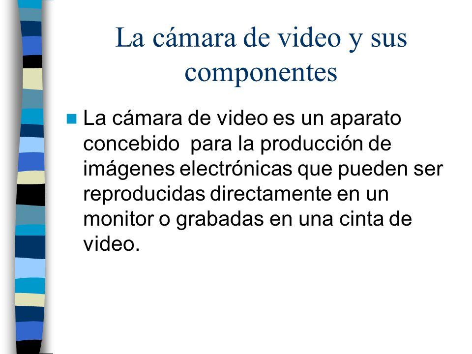La cámara de video y sus componentes