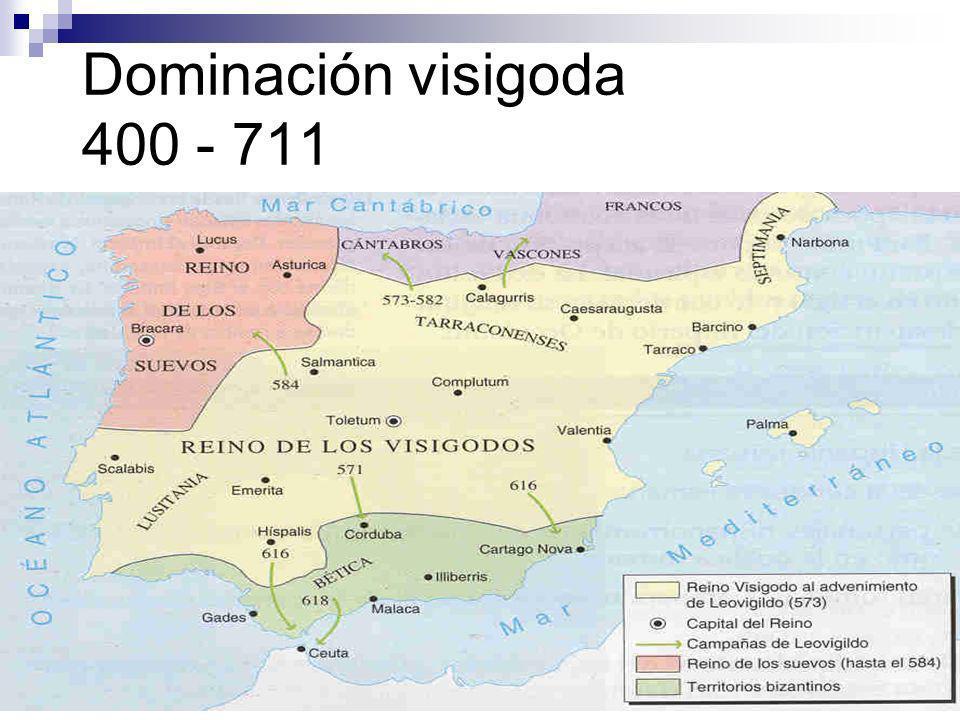 Dominación visigoda 400 - 711