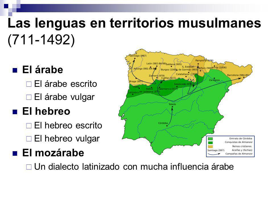 Las lenguas en territorios musulmanes (711-1492)