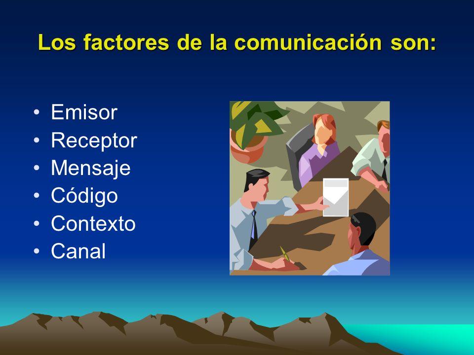 Los factores de la comunicación son:
