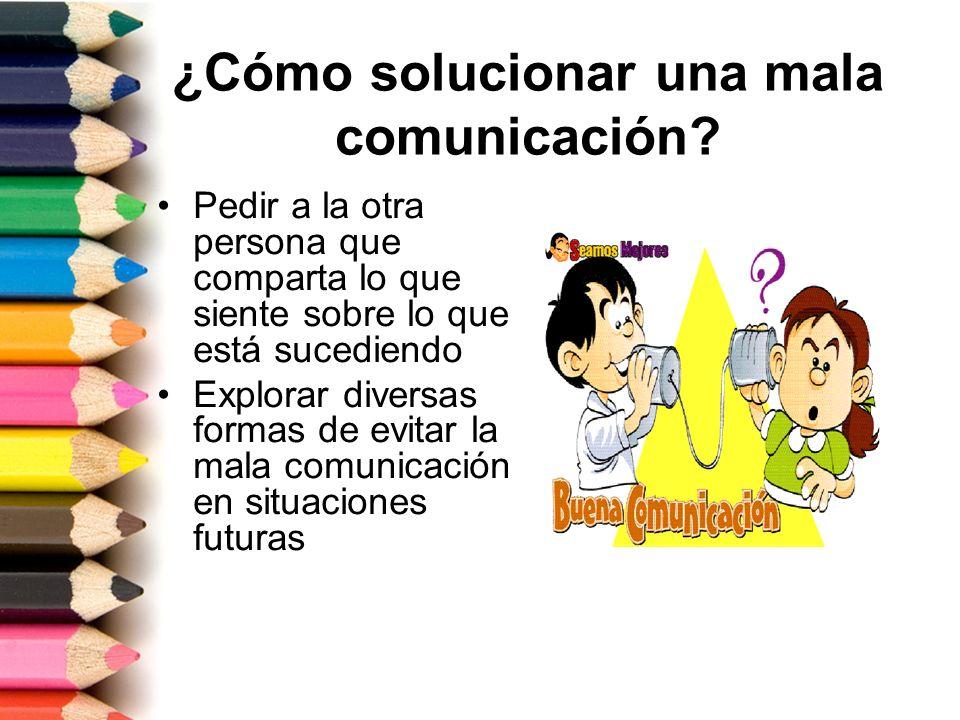 ¿Cómo solucionar una mala comunicación
