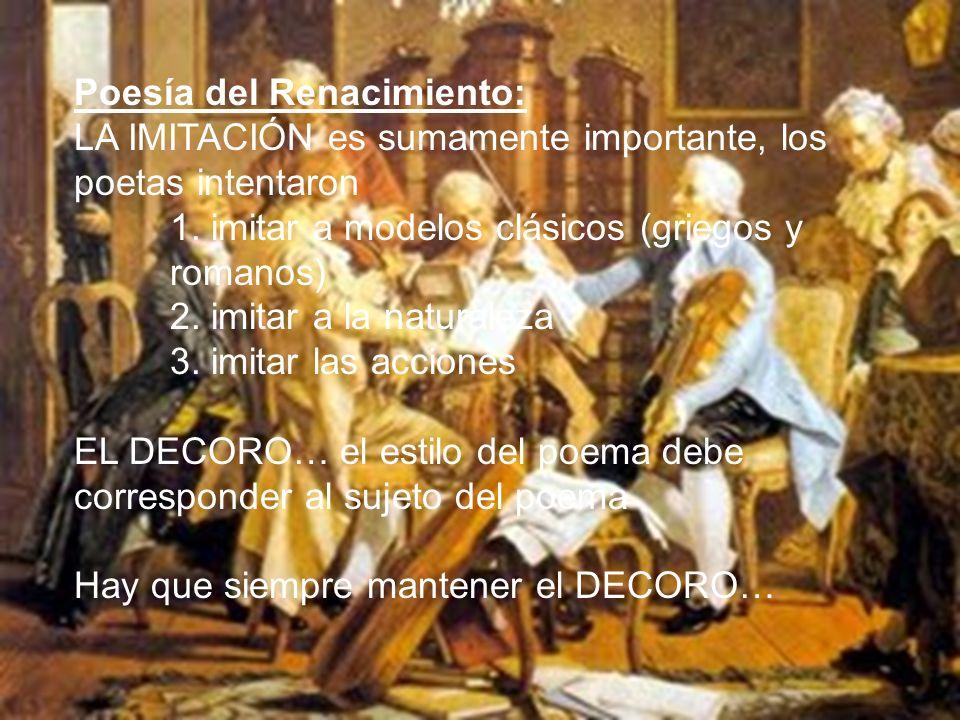 Poesía del Renacimiento: