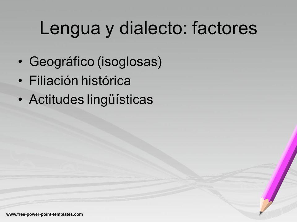 Lengua y dialecto: factores