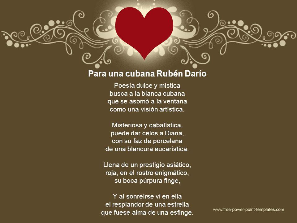 Para una cubana Rubén Darío