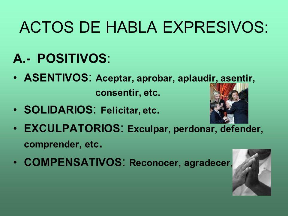 ACTOS DE HABLA EXPRESIVOS: