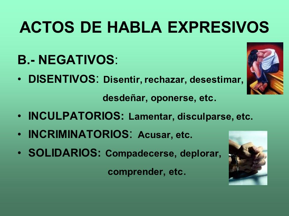 ACTOS DE HABLA EXPRESIVOS