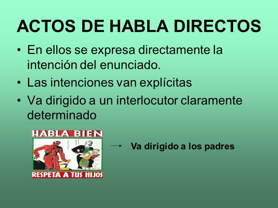 ACTOS DE HABLA DIRECTOS