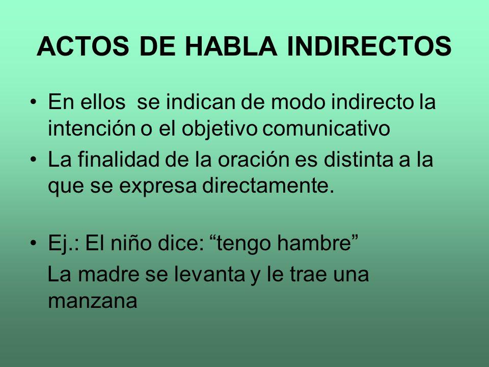 ACTOS DE HABLA INDIRECTOS