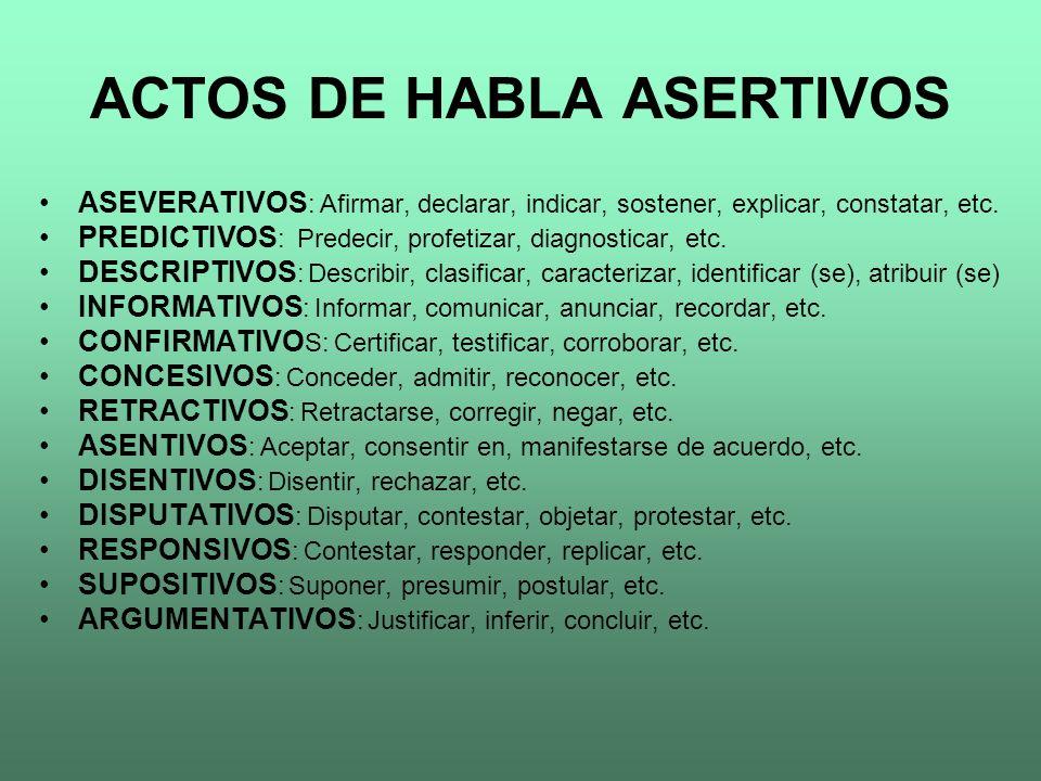 ACTOS DE HABLA ASERTIVOS