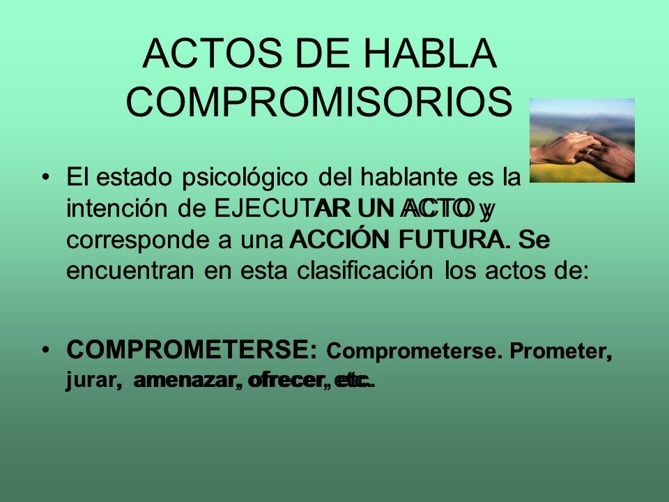 ACTOS DE HABLA COMPROMISORIOS