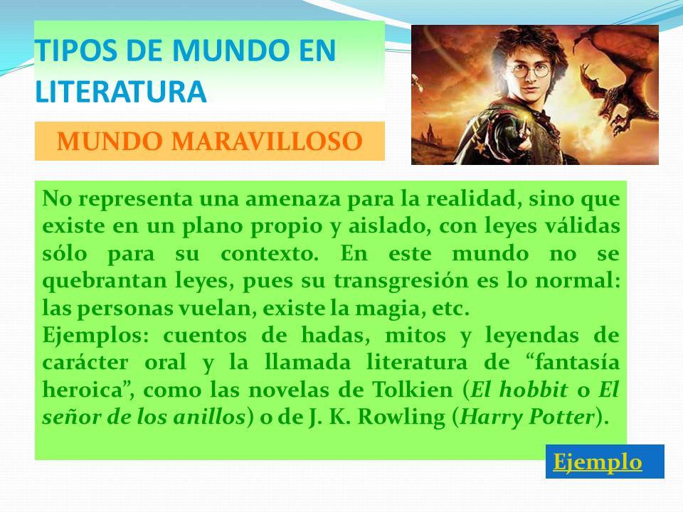 TIPOS DE MUNDO EN LITERATURA
