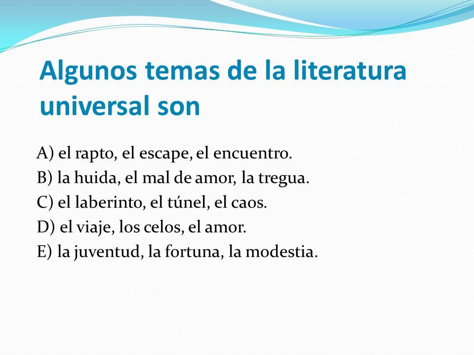 Algunos temas de la literatura universal son