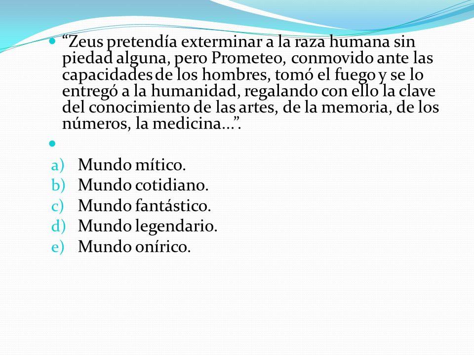 Zeus pretendía exterminar a la raza humana sin piedad alguna, pero Prometeo, conmovido ante las capacidades de los hombres, tomó el fuego y se lo entregó a la humanidad, regalando con ello la clave del conocimiento de las artes, de la memoria, de los números, la medicina... .