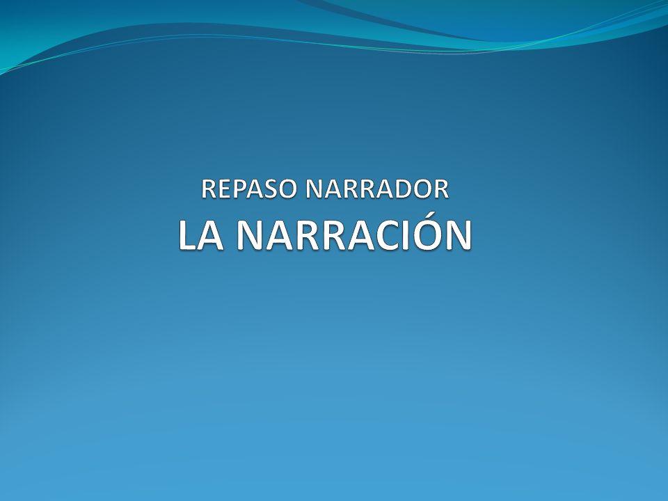REPASO NARRADOR LA NARRACIÓN