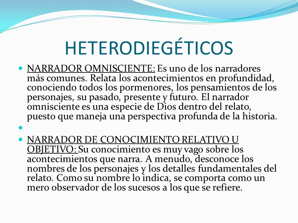 HETERODIEGÉTICOS