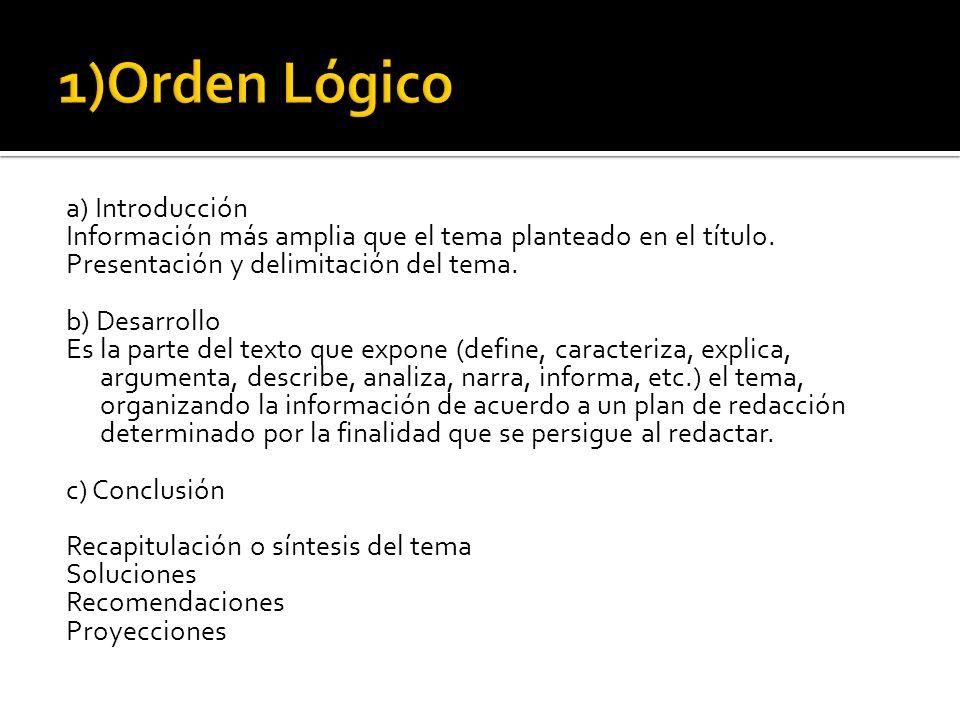1)Orden Lógico