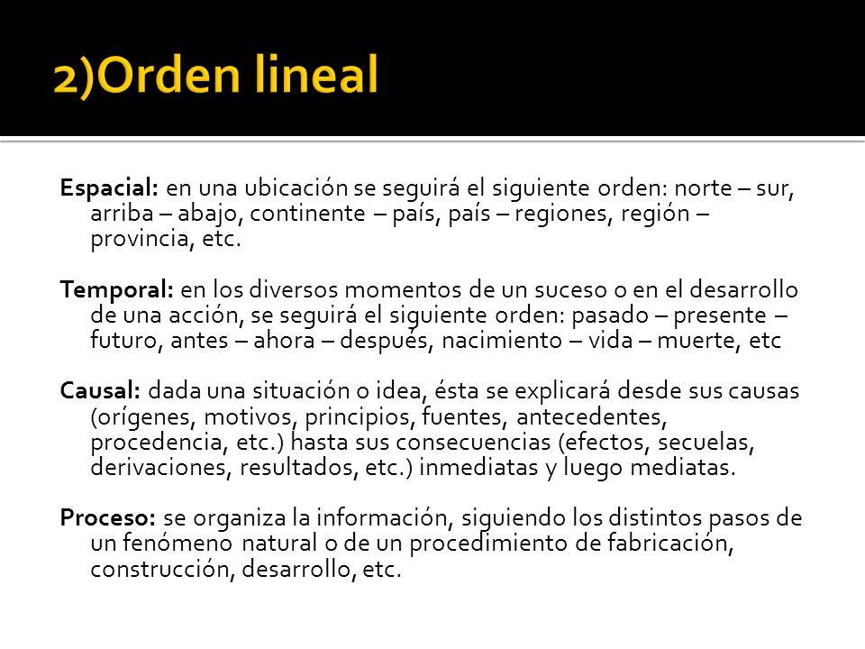 2)Orden lineal