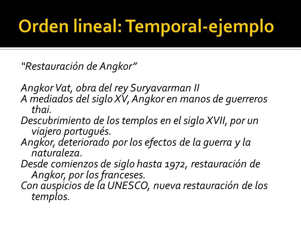 Orden lineal: Temporal-ejemplo