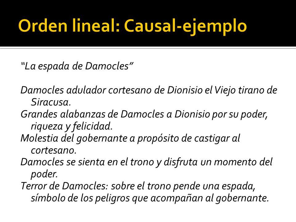 Orden lineal: Causal-ejemplo