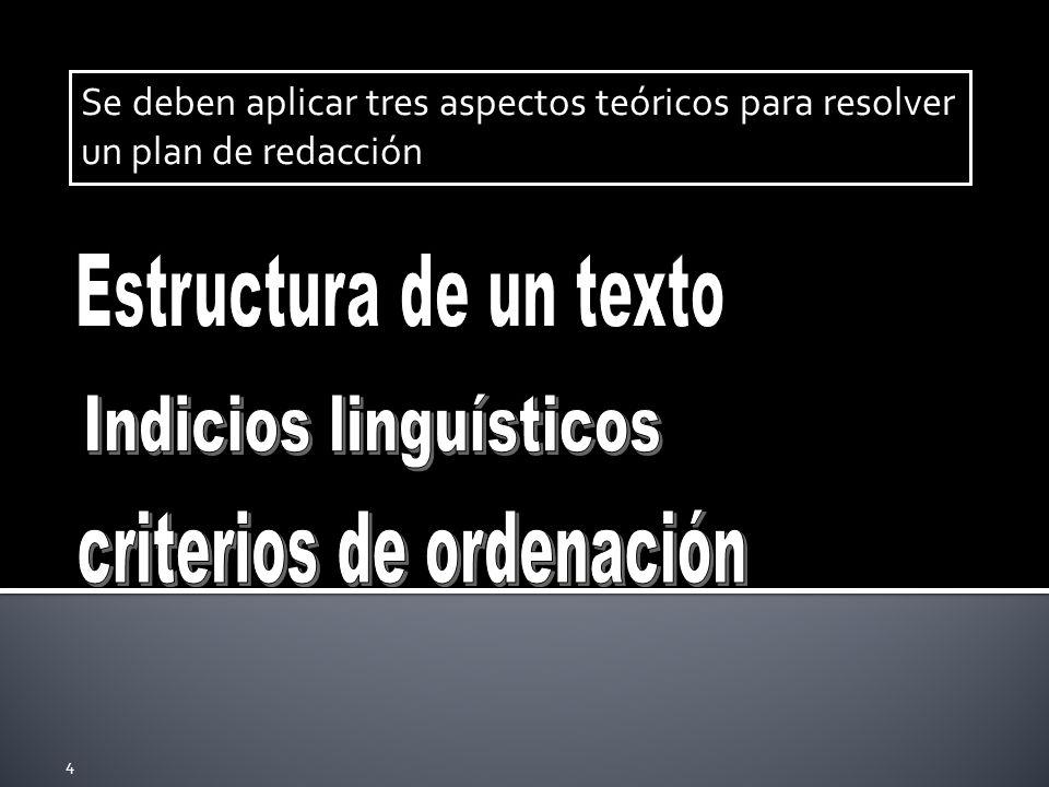 Indicios linguísticos