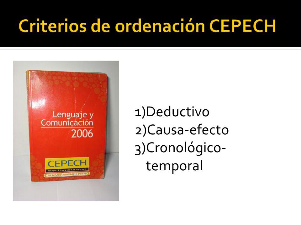 Criterios de ordenación CEPECH