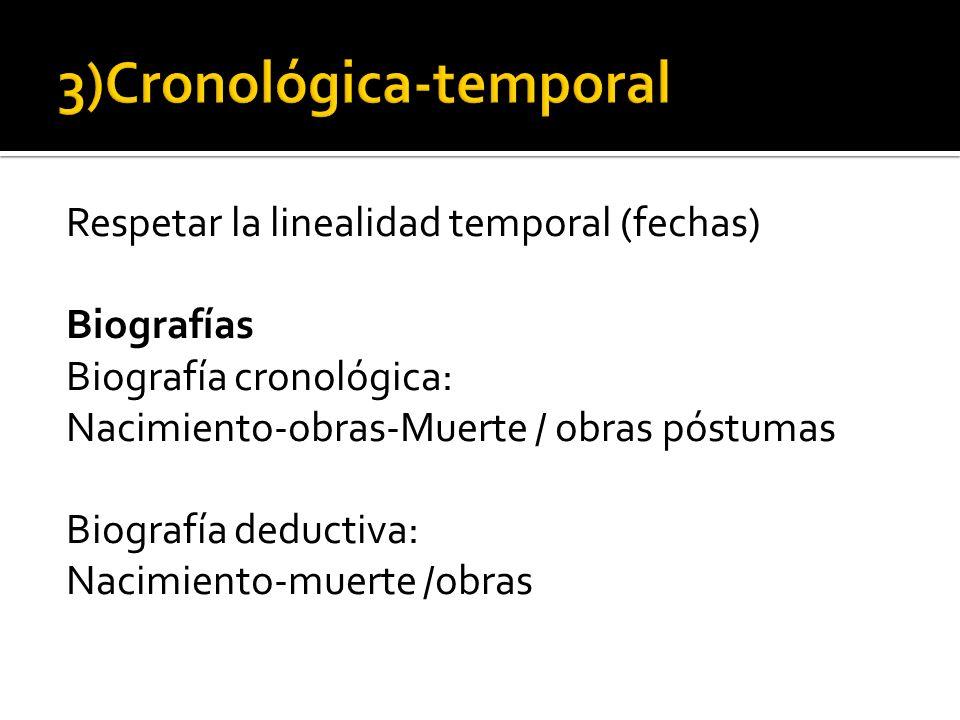 3)Cronológica-temporal