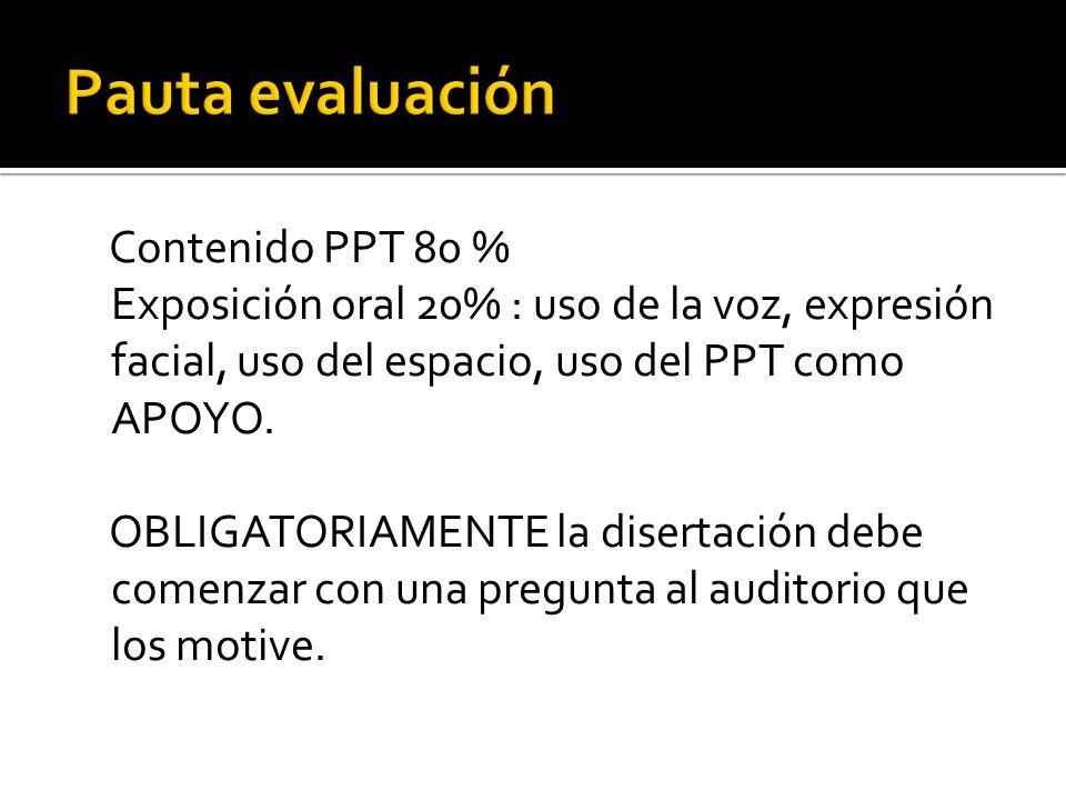 Pauta evaluación