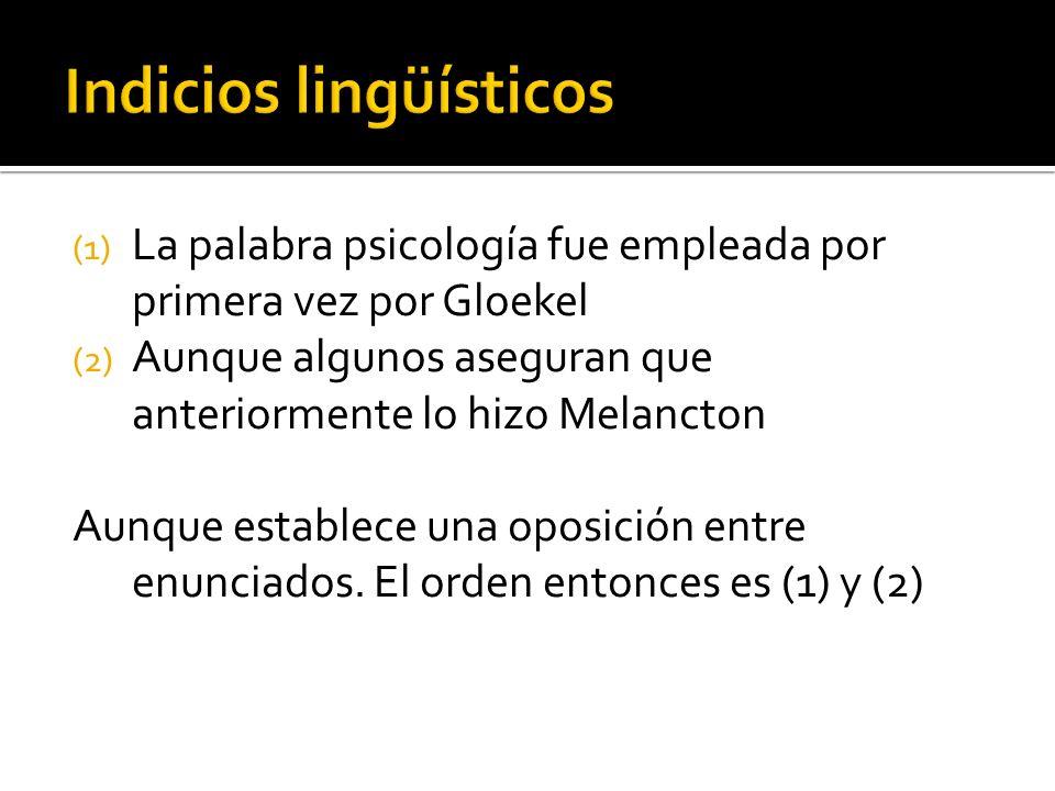 Indicios lingüísticos
