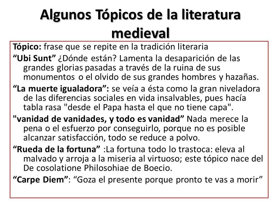 Algunos Tópicos de la literatura medieval