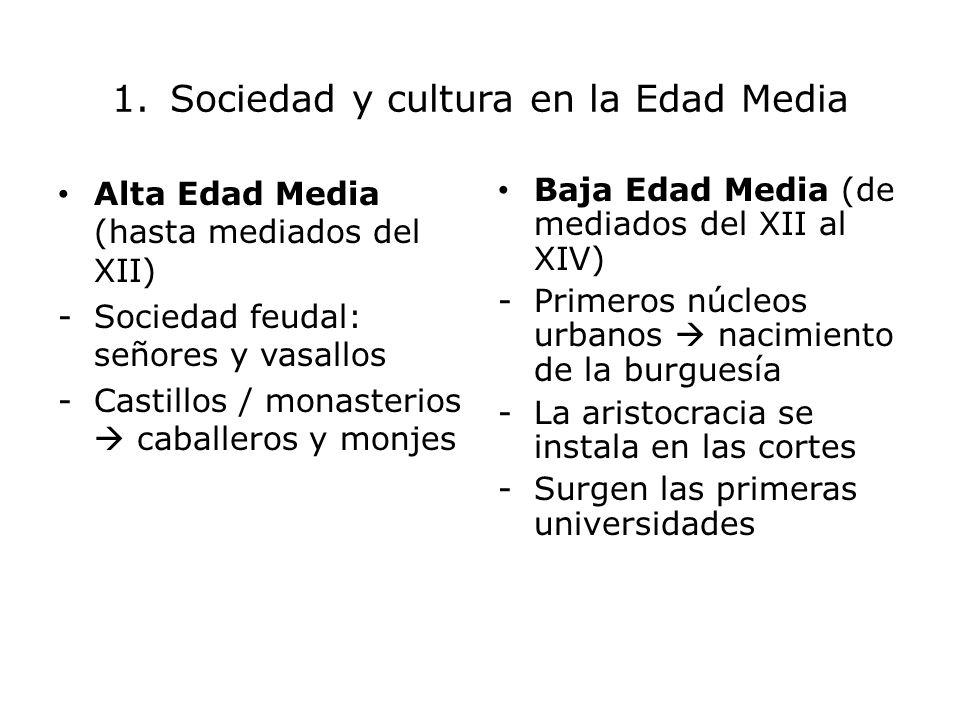 1. Sociedad y cultura en la Edad Media
