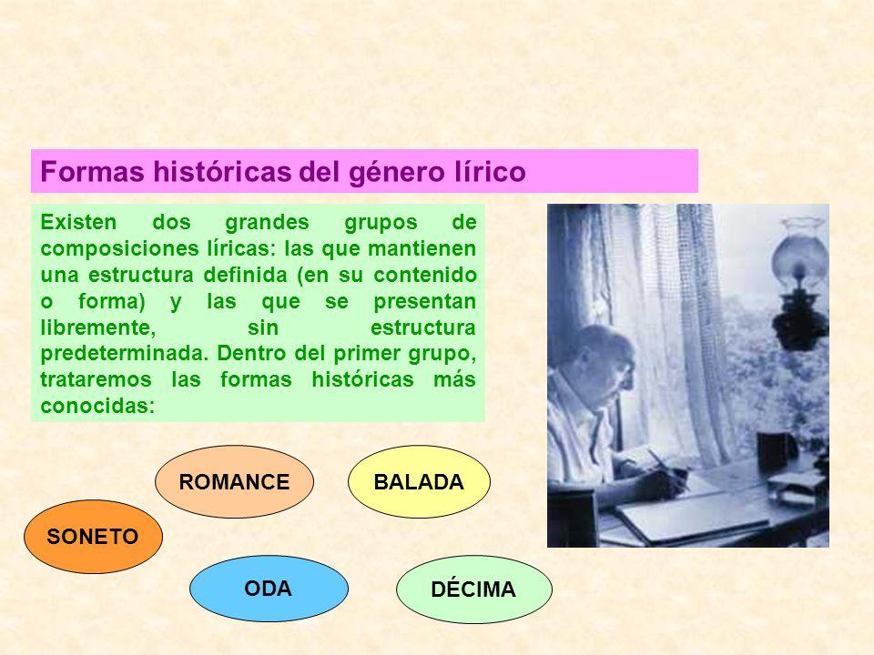 Formas históricas del género lírico