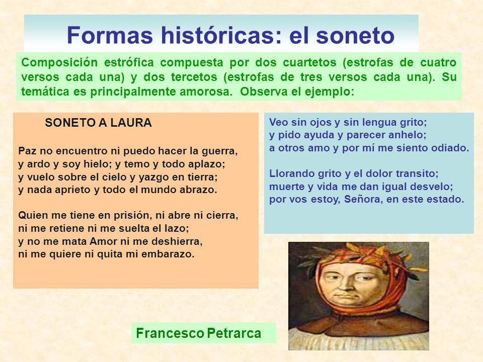 Formas históricas: el soneto