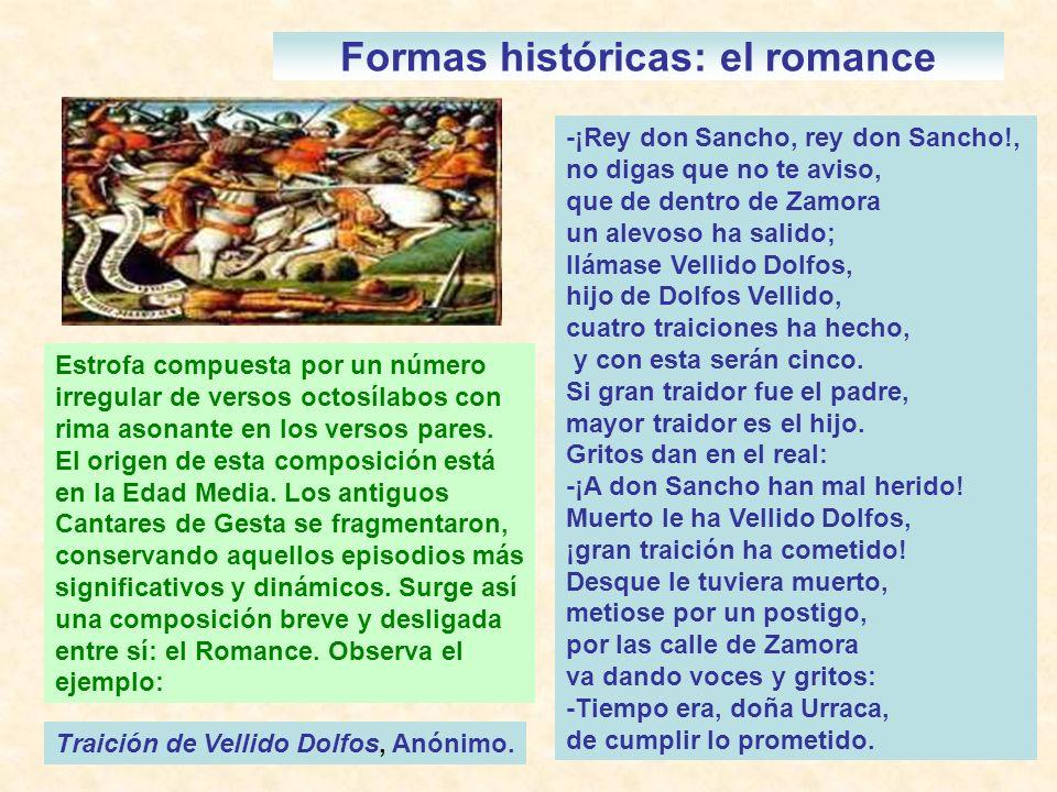 Formas históricas: el romance