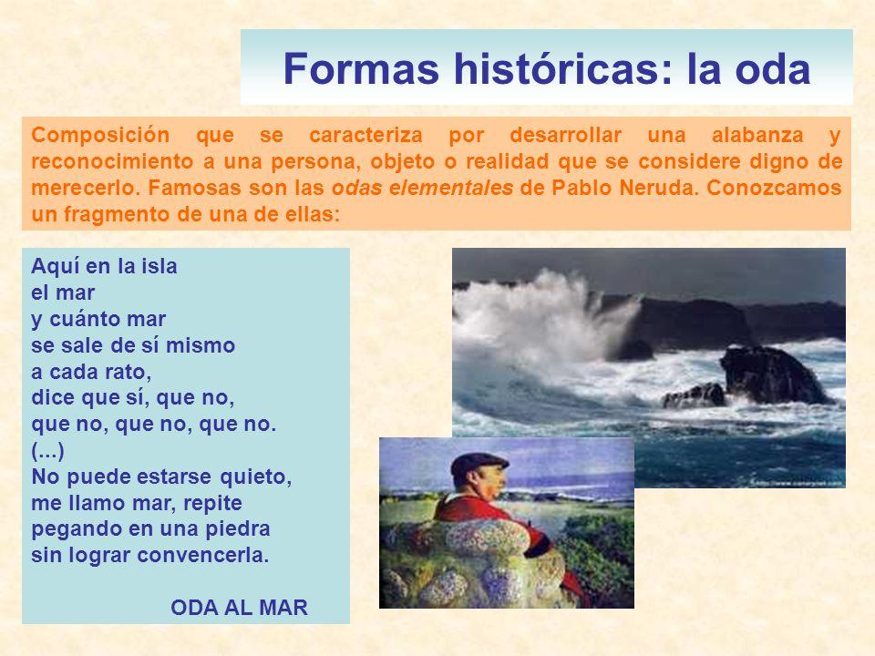 Formas históricas: la oda
