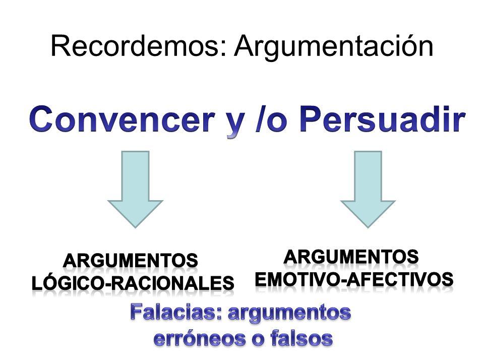 Recordemos: Argumentación
