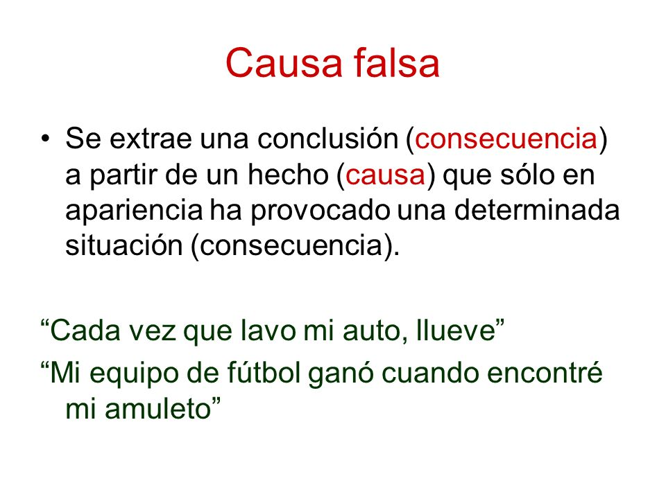 Causa falsa