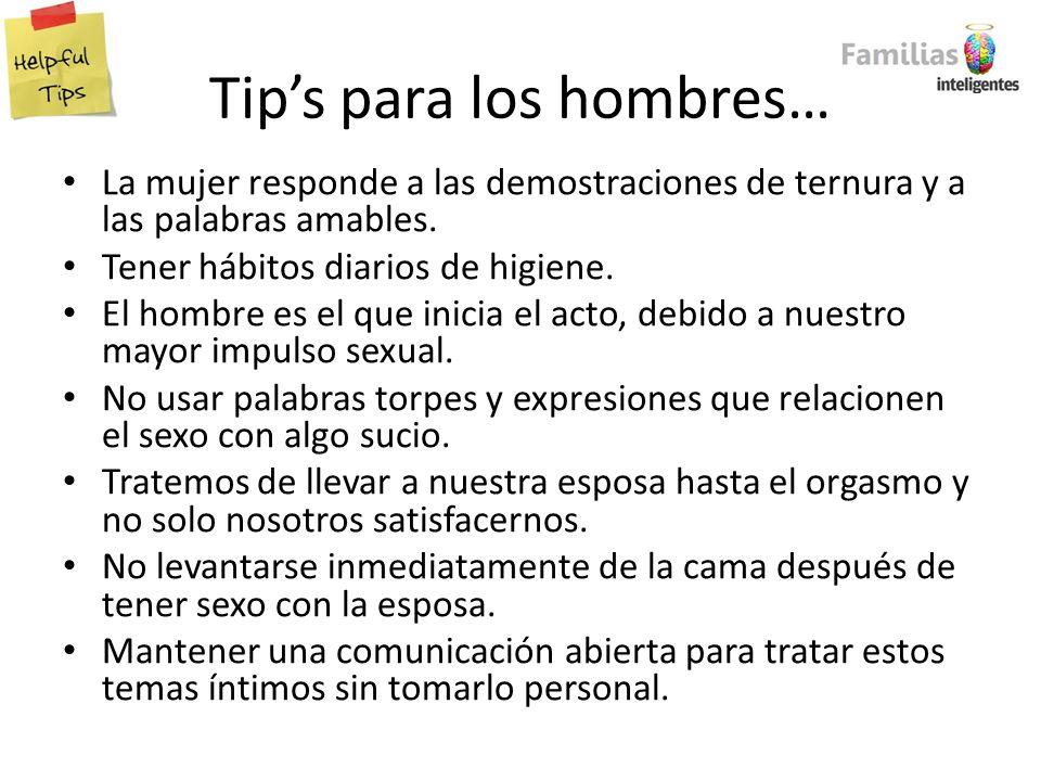 Tip's para los hombres…