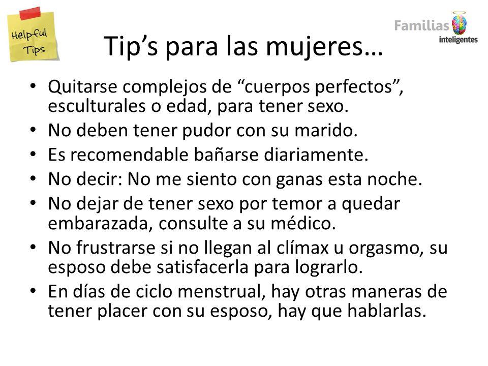 Tip's para las mujeres…