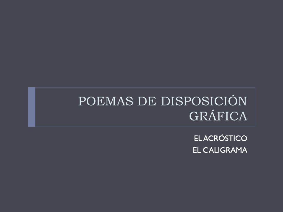 POEMAS DE DISPOSICIÓN GRÁFICA
